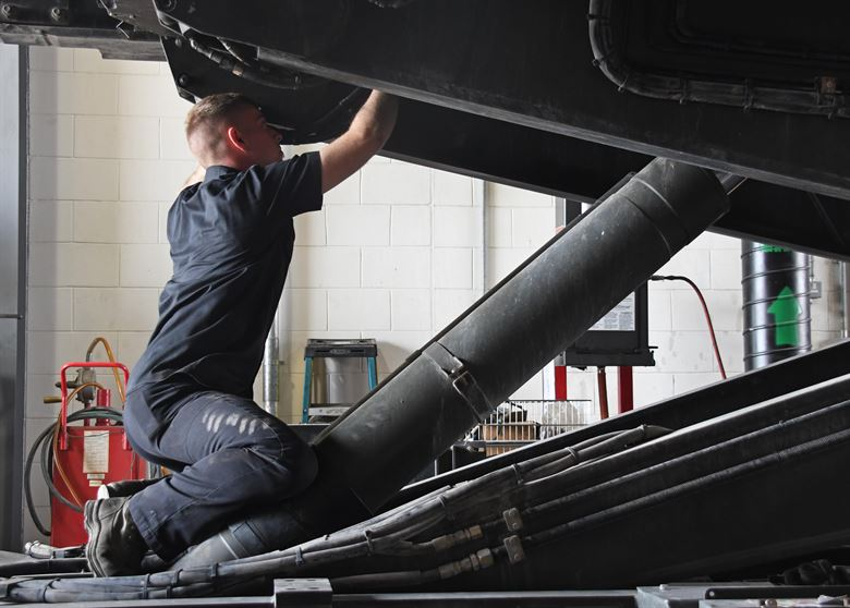A worker in the hydraulic cylinder industry