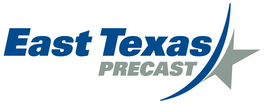 East Texas Precast Co. in Hempstead, TX. Large precast concrete structural members.