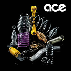 Ace Wire Spring & Form Co., Inc. in McKees Rocks, PA. Custom compression springs, extension springs, torsion springs & wire forms, including engineering design assistance.