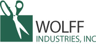 Wolff Industries, Inc. in Spartanburg, SC. Stainless steel industrial, professional, grooming & beauty shears & scissors sharpeners.