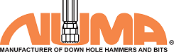 Numa - DTH Hammers & Bits in Thompson, CT. Down-the-hole (DTH) rock drilling hammers, drills & bits for drilling vertical, horizontal & reverse circulation holes from 3 1/2 inches to 48 inches (89mm-1219mm) in diameter.