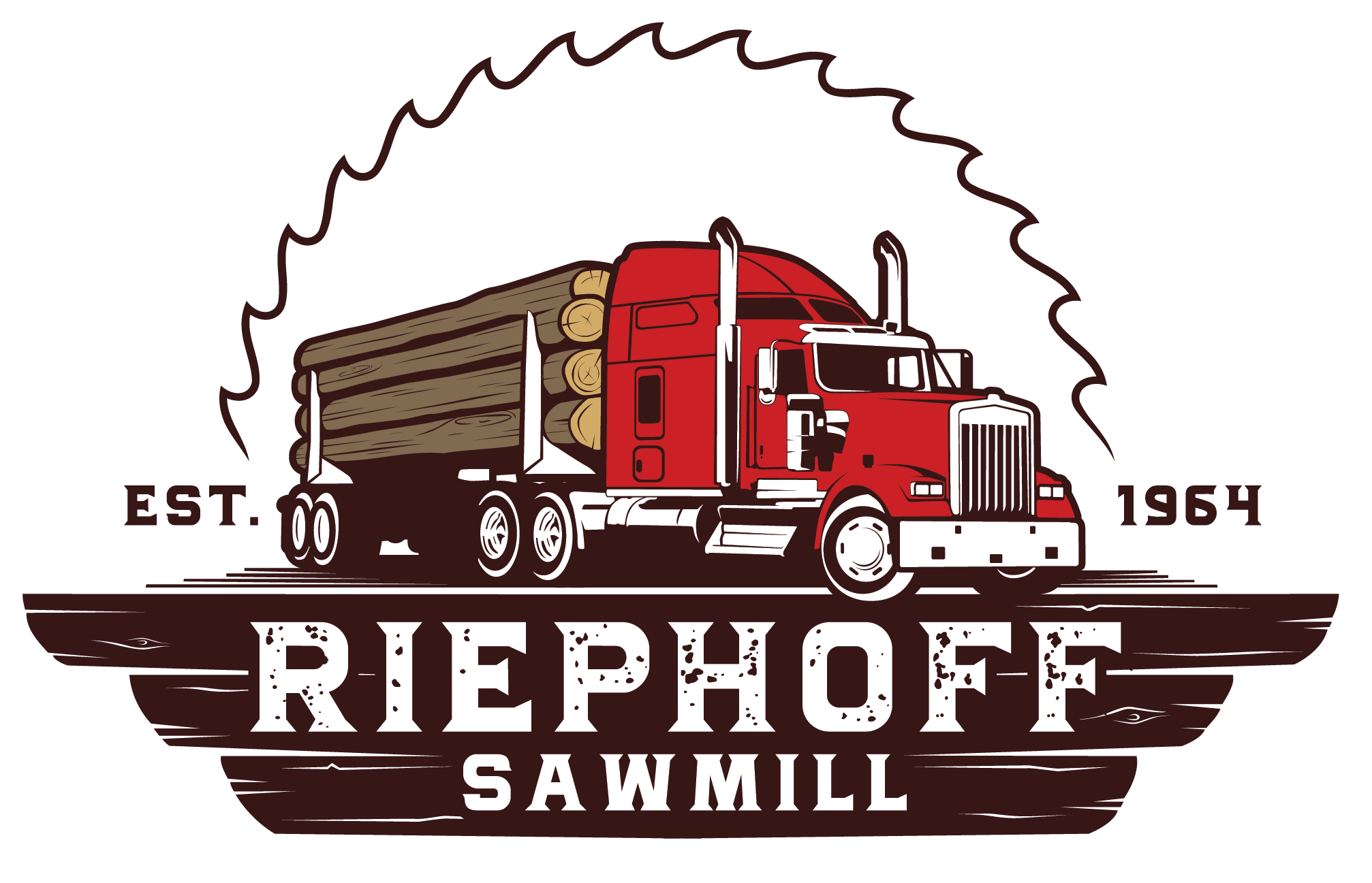 Riephoff Sawmill, Inc. in Allentown, NJ. Lumber processing & crane mats, dunnage, shoring, trailer decking & tree stakes.