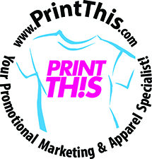 Print This!, Inc. in Tarrytown, NY. Apparel, embroidery, screen printing, promotional products, advertising specialties, corporate gifts, pens, mugs, incentives, bags, magnets, accessories, chargers, labels, calendars, t-shirts, blankets, towels, displays, decals & desk accessories.