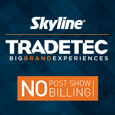 TradeTec Skyline in Lombard, IL. Sales & rental of custom, modular & portable trade show exhibits & displays, including full design services, show services, show book fulfillment, project & logistics coordination, asset management & storage.