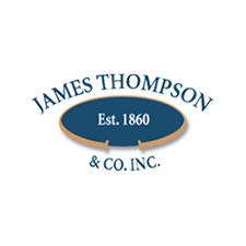 James Thompson & Co., Inc. in New York, NY. Corporate headquarters & dyeing & finishing of cotton, burlap, duck (canvas) muslin, bull denim, twill, osnaburg, striped ticking, buckram & monks cloth.