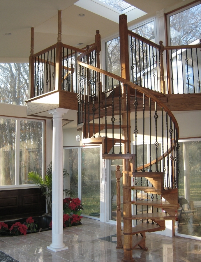 Precision Pine, Inc. in Knoxville, TN. Wood spiral stair kits.