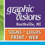 Graphic Visions, Inc. in Northville, MI. Full-service business branding, including logo & package design, product consulting, interior & exterior signs, large-format printing, banners, vehicle wraps, websites & imprinted items & trade show displays.