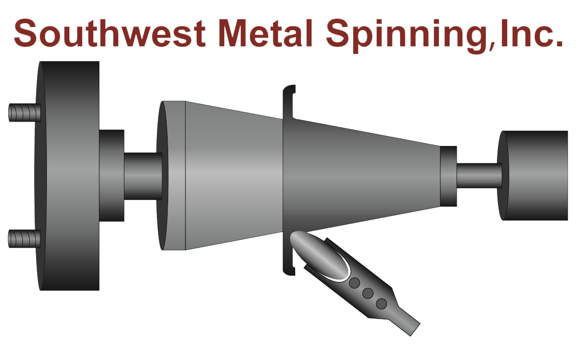 Southwest Metal Spinning, Inc. in Chandler, AZ. Metal spinning & stamping of small volume runs, high production runs, tooling & custom prototyping in aluminum, stainless steel, titanium, nickel, nickel-chromium-based superalloy, copper, brass, cold-rolled steel & electrogalvanized steel.