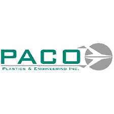 Paco Plastics & Engineering, Inc. in Santa Fe Springs, CA. Plastic injection molding & aluminum & stainless steel interior aircraft hardware.