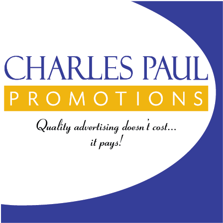 Charles Paul Promotions in Holbrook, NY. Screen-printed & embroidered promotional products & advertising specialties, including t-shirts, hats, sport shirts, key chains, water bottles, mugs, bags, pens, drinkware, magnets, corporate gifts & incentives, tote bags, business cards & chargers.
