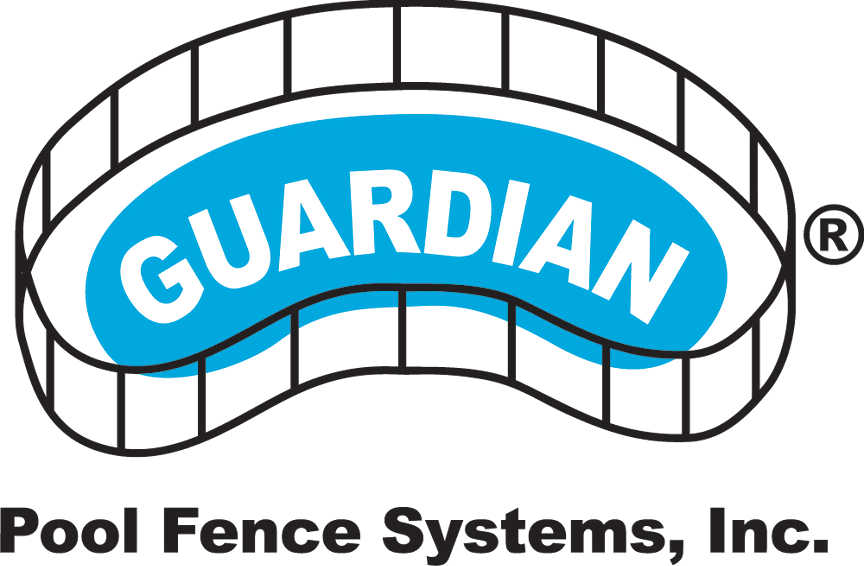 Guardian Pool Fence Systems, Inc in Van Nuys, CA. Polyvinyl coated removable polyester mesh swimming pool safety fencing with climb-resistant, self-closing gate.