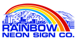 Rainbow Neon Sign Co. in Salt Lake City, UT. Custom design & fabrication of signs & outdoor advertising, including LED message boards, banners, neon signs, cabinets, pan channel letters, pole signs, vinyl decals, hand painting & large-format graphics.